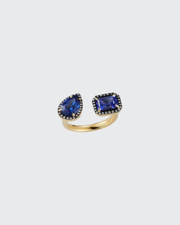 Prive Open Tanzanite and Diamond Ring