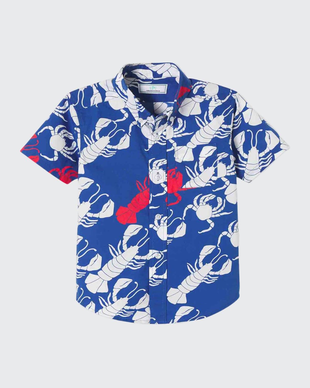 Boy's Owen Printed Button-Down Shirt
