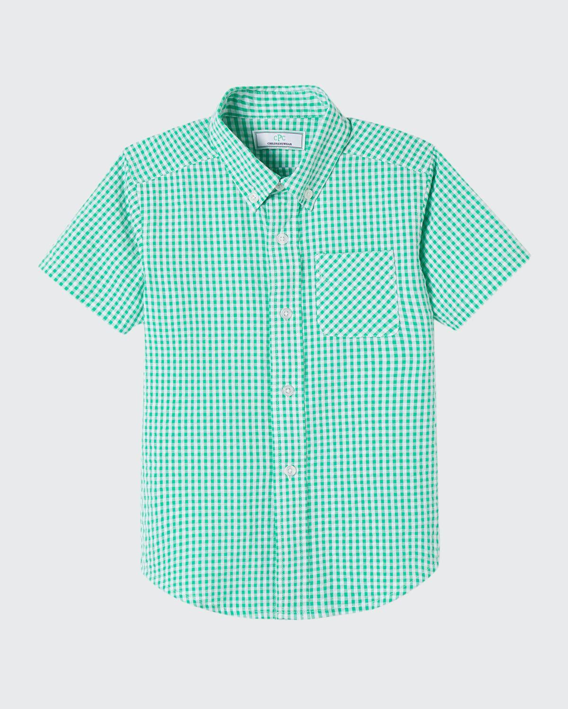 Boy's Owen Gingham Button-Down Shirt