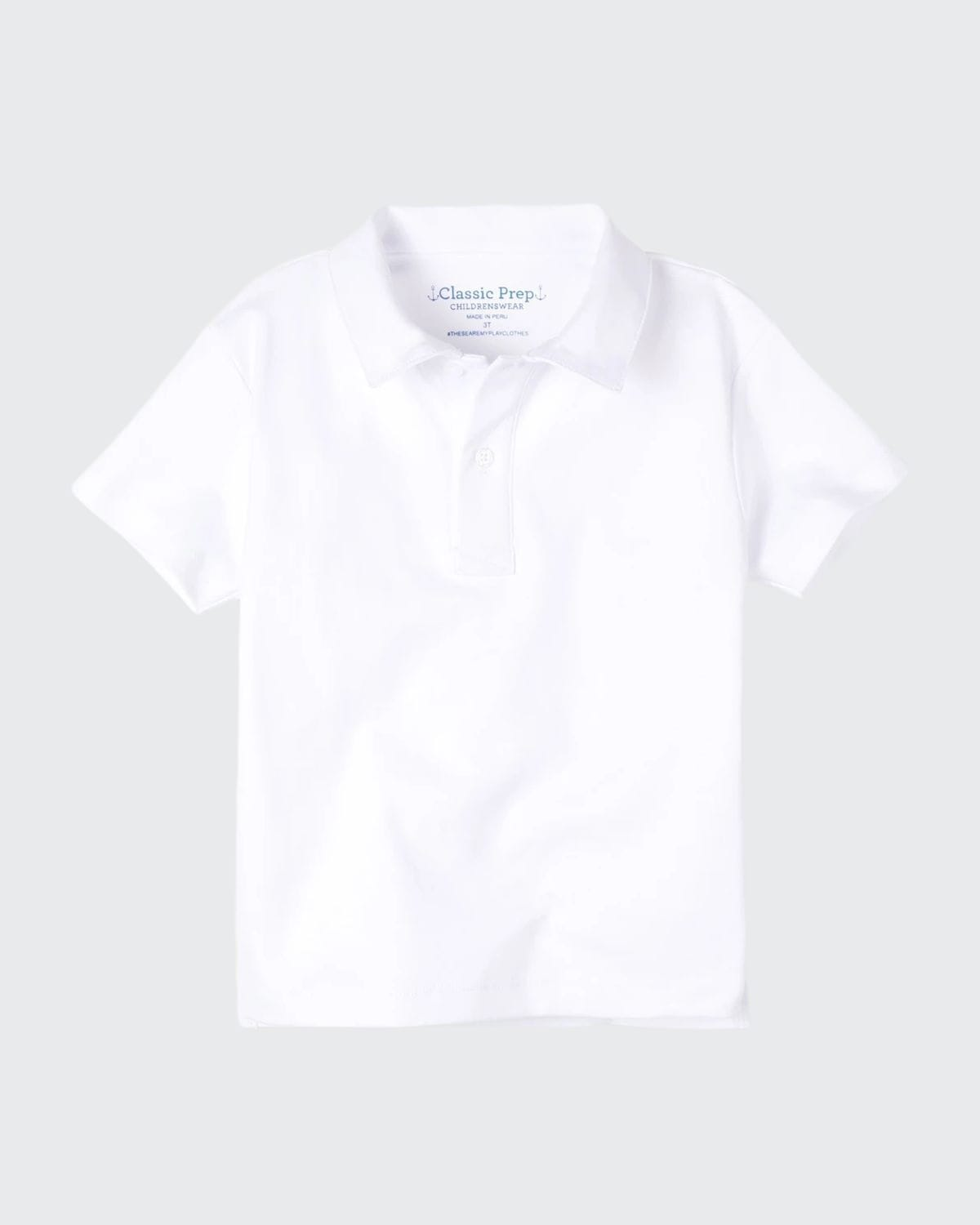 Boy's Henry Solid Cotton Short-Sleeve Polo Shirt
