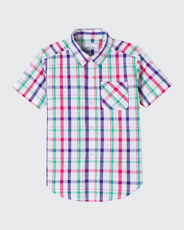 Boy's Owen Plaid Short-Sleeve Shirt