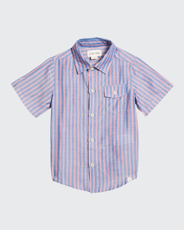 Boy's Newport Striped Button-Down Shirt