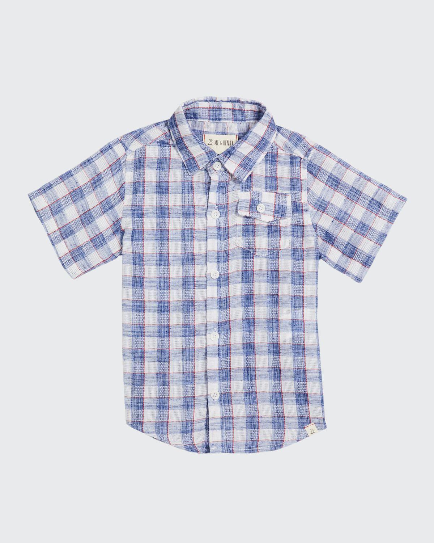 Boy's Newport Plaid Button-Down Shirt