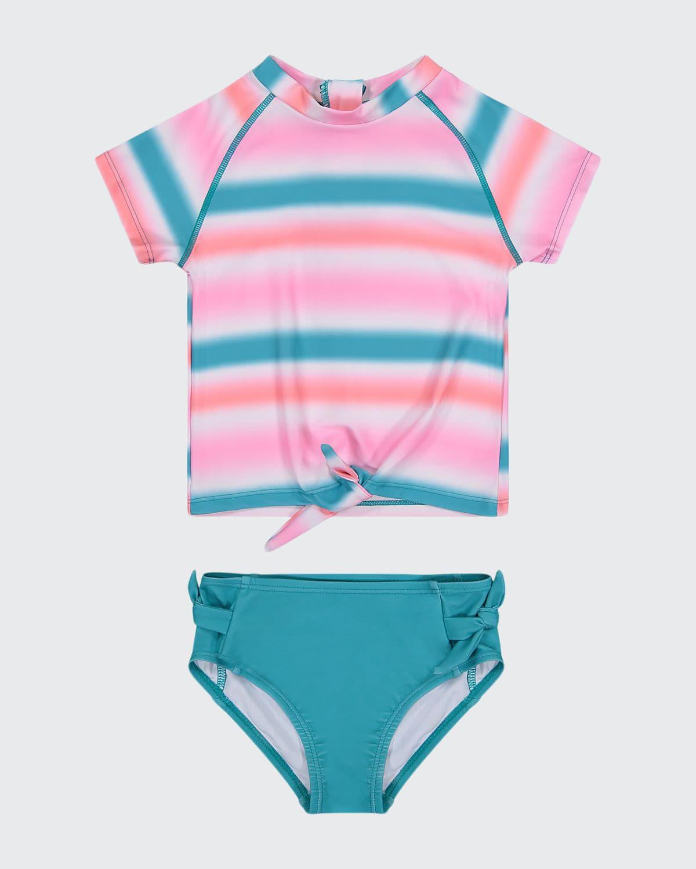 Girl's Tie-Dye 2-Piece Rash Guard Set