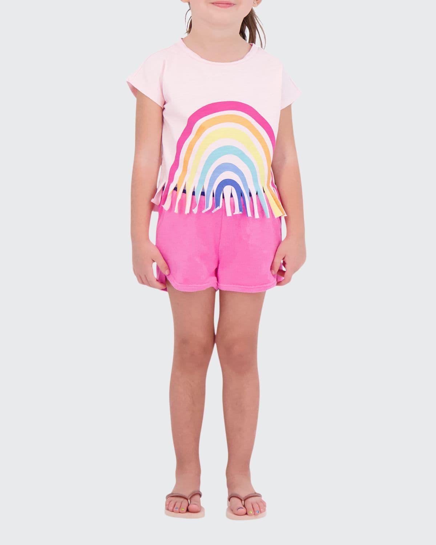 Girl's 2-Piece Rainbow Fringe Coverup Set