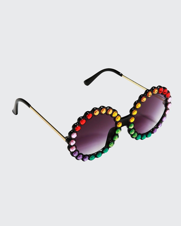 Kid's Round Crystal Sunglasses