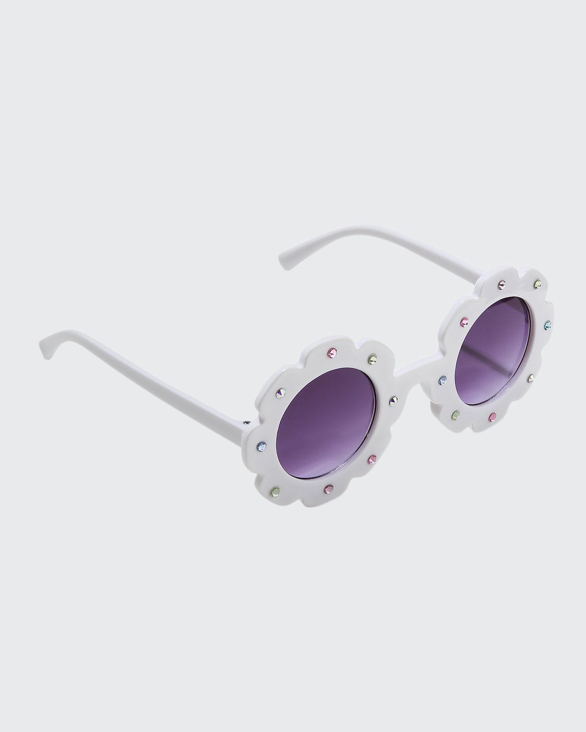 Kid's Flower Sunglasses with Crystals
