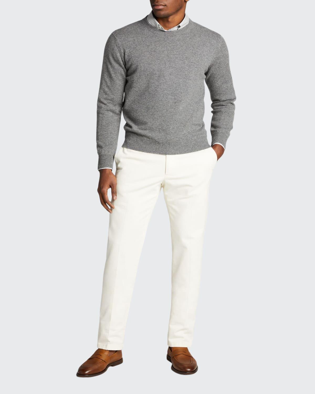 Men's Solid Cashmere Crewneck Sweater