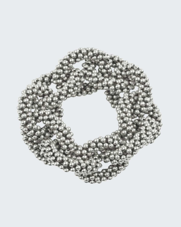 Silver Beaded Link Bracelet