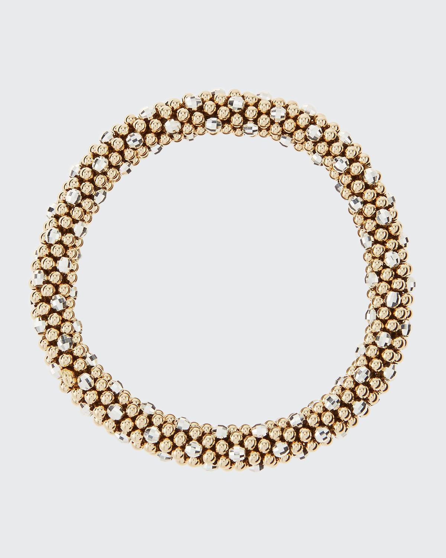 Beth 14-Karat Gold and Silver Bead Bracelet