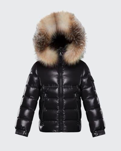 Kids Fur Jacket Bergdorfgoodman Com, Black Coat With Fur Hood Children S