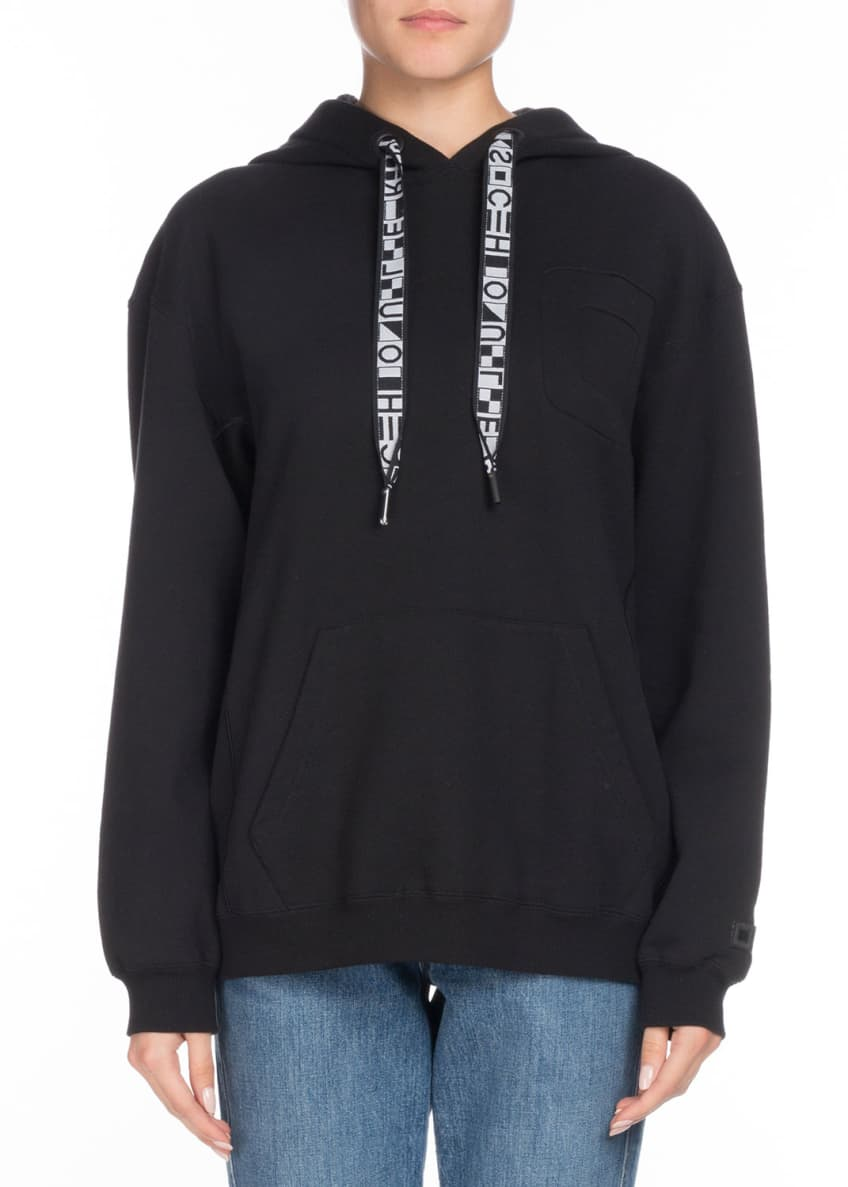 Proenza Schouler Drawstring Hooded Pullover Sweatshirt & Matching