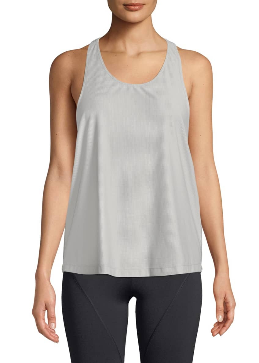 CUSHNIE Logo T-Back Scoop-Neck Active Tank & Matching