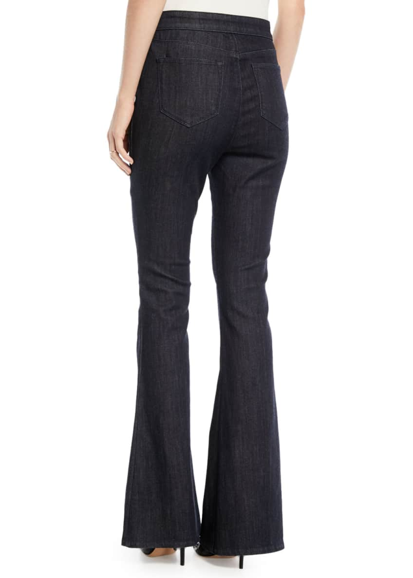 Image 3 of 4: Leone Flare-Leg Jeans