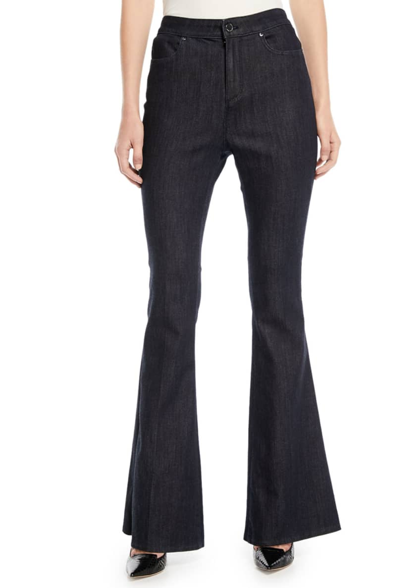 Image 1 of 4: Leone Flare-Leg Jeans
