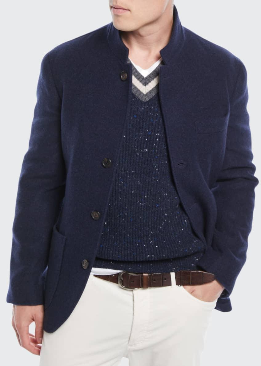 Brunello Cucinelli Men's Cashmere Patch-Pocket Jacket & Matching