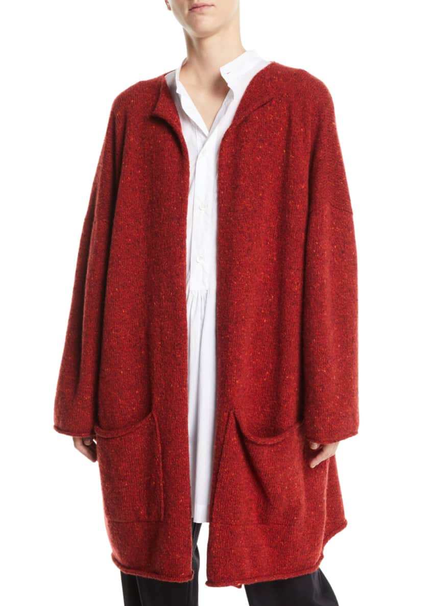 Eskandar Open-Front Wool-Cashmere Cardigan & Matching Items