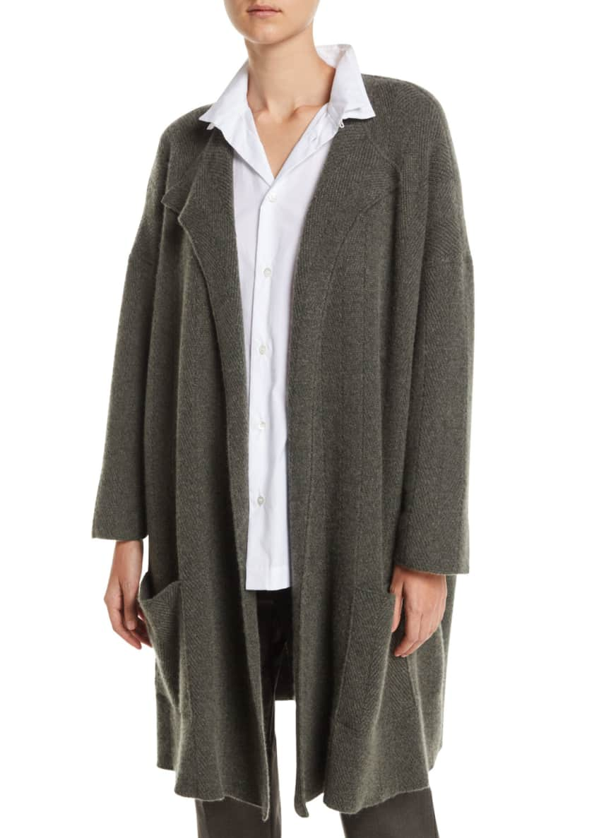 Eskandar Open-Front Cashmere Cardigan Jacket & Matching Items