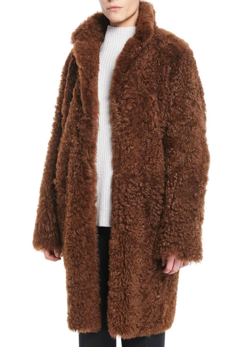 Vince Reversible Shearling Coat & Matching Items