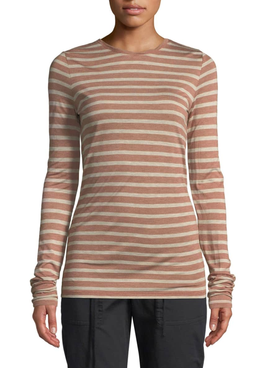 Vince Striped Long-Sleeve Crewneck Top & Matching Items