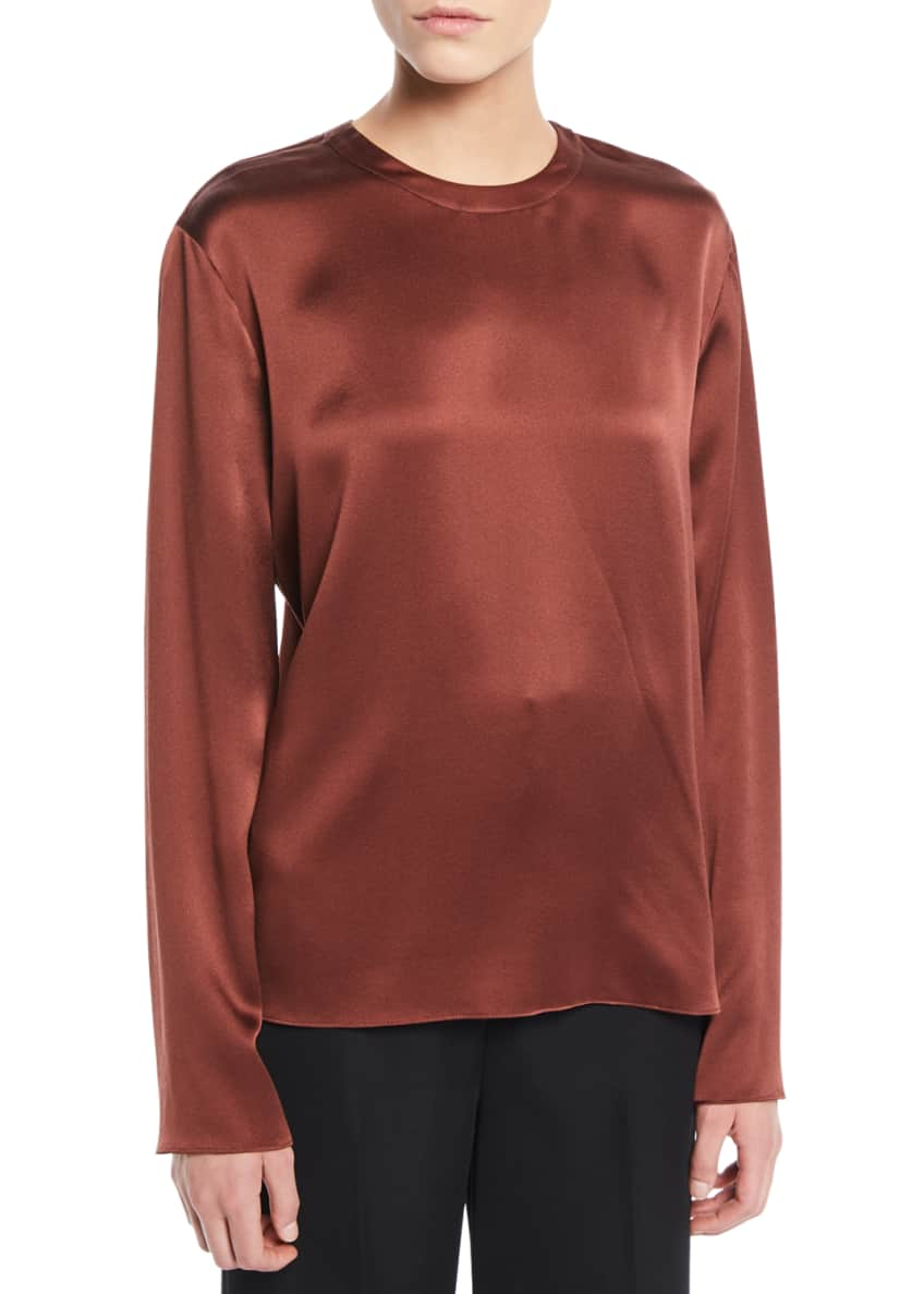 Vince Tie-Back Silk Long-Sleeve Blouse & Matching Items