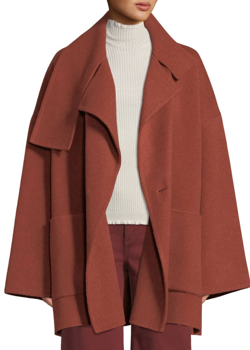 Vince Oversized Wool Blanket Coat & Matching Items