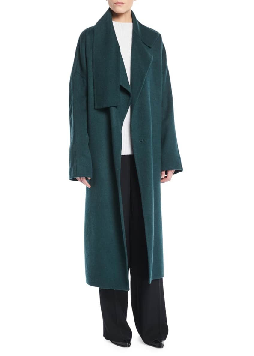 Vince Cozy Belted Long Wool Coat & Matching