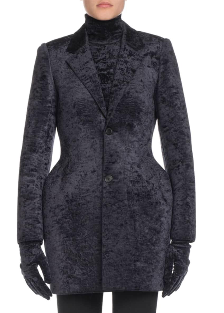 Balenciaga Crushed Velvet Hourglass Blazer & Matching Items