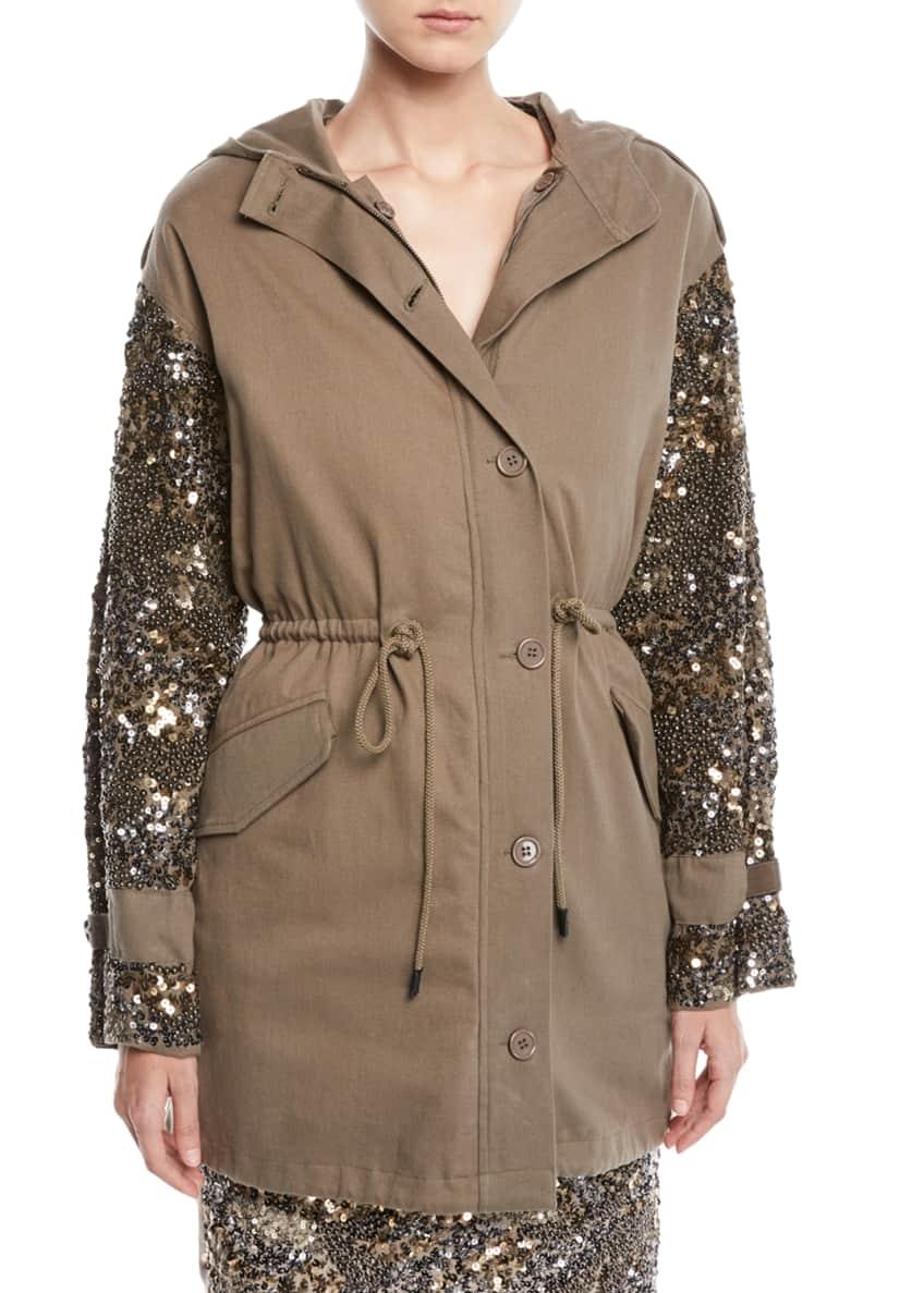 Joie Tadita Embellished-Sleeve Coat & Matching Items