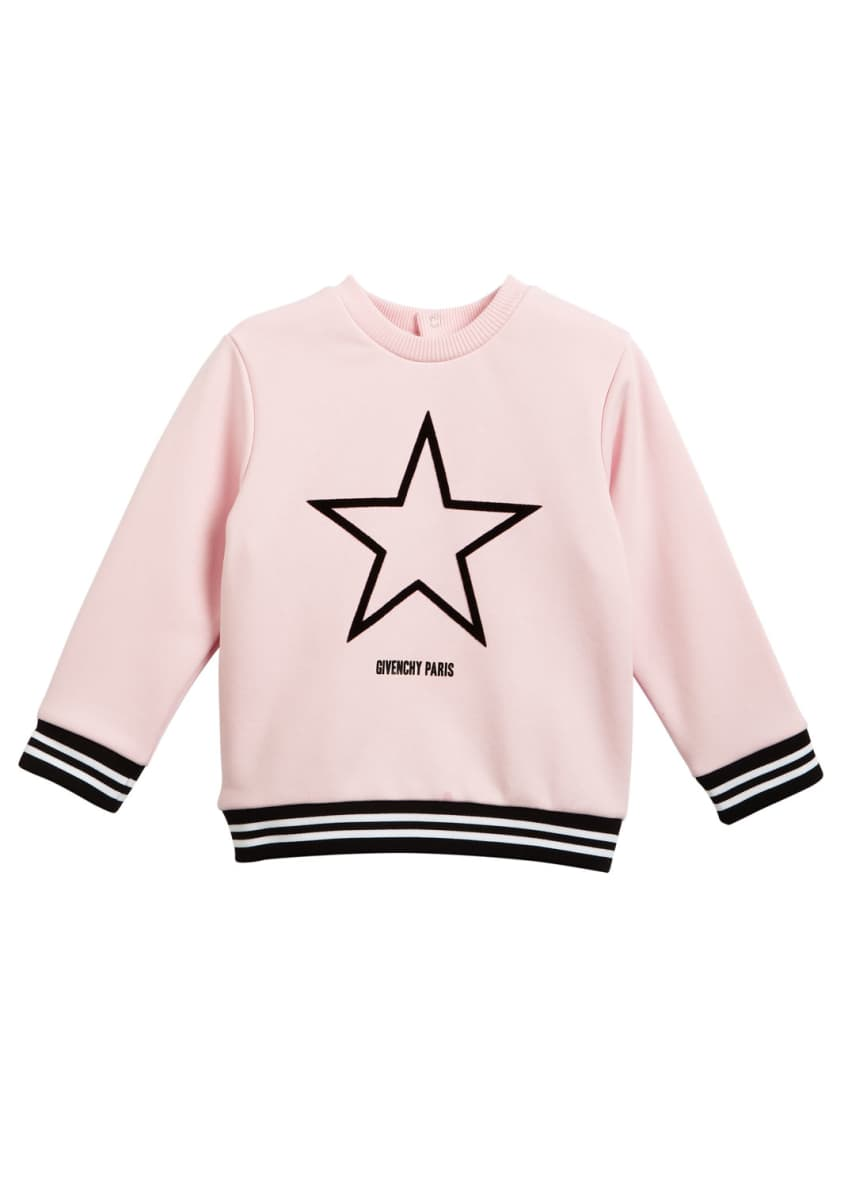 Givenchy Star Logo Sweatshirt Top, Girls' 6-18 Months