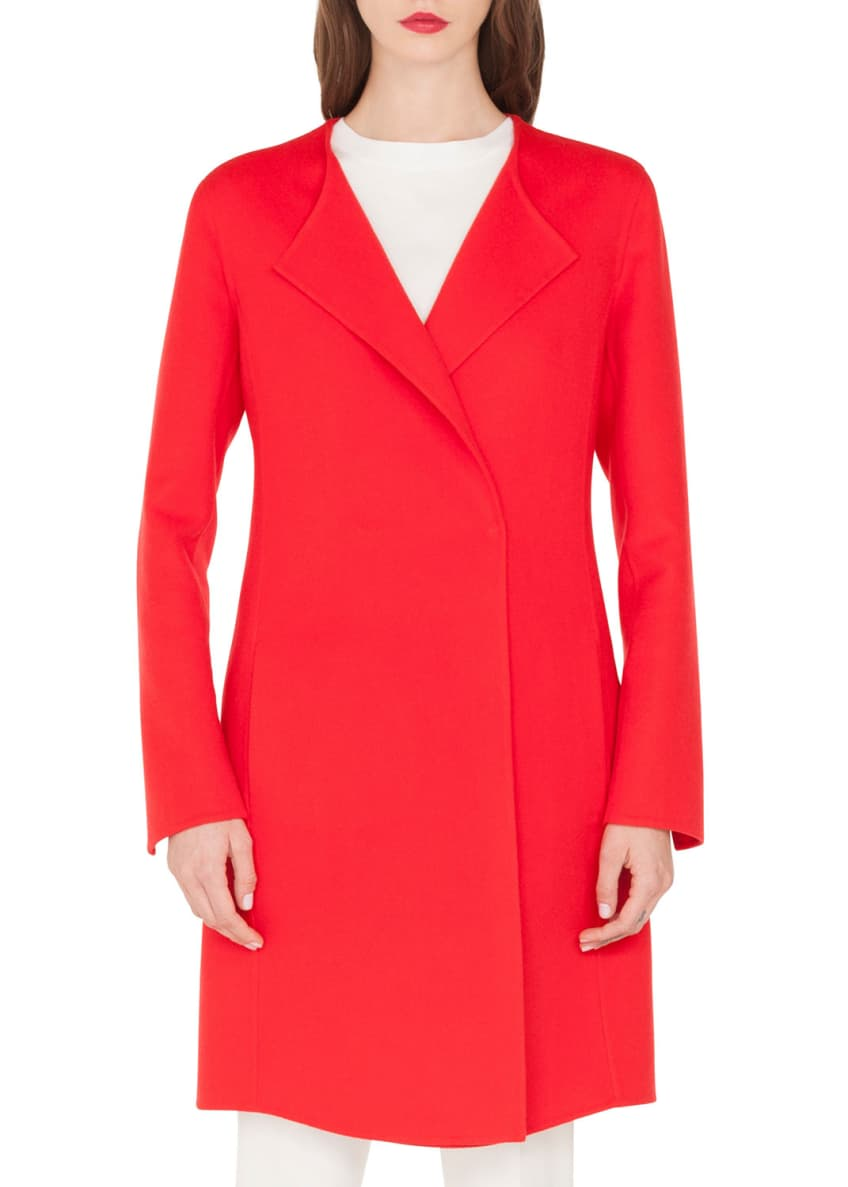 Image 1 of 5: Double-Face Cashmere Clean-Line Coat