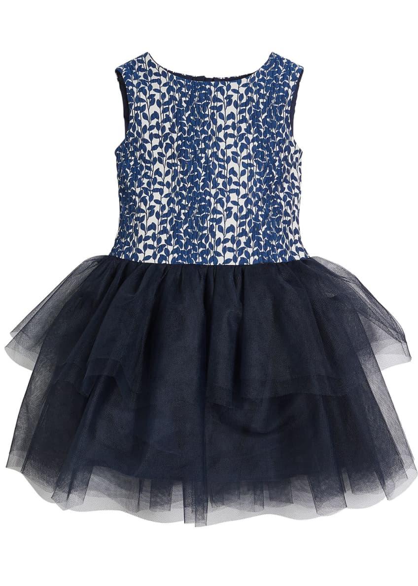 Charabia Daisy Tulle-Skirt Sleeveless Dress, Size 2-8 &