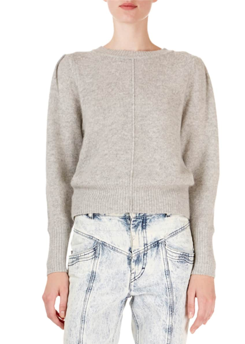 Isabel Marant Cashmere Seamed Crop Sweater & Matching