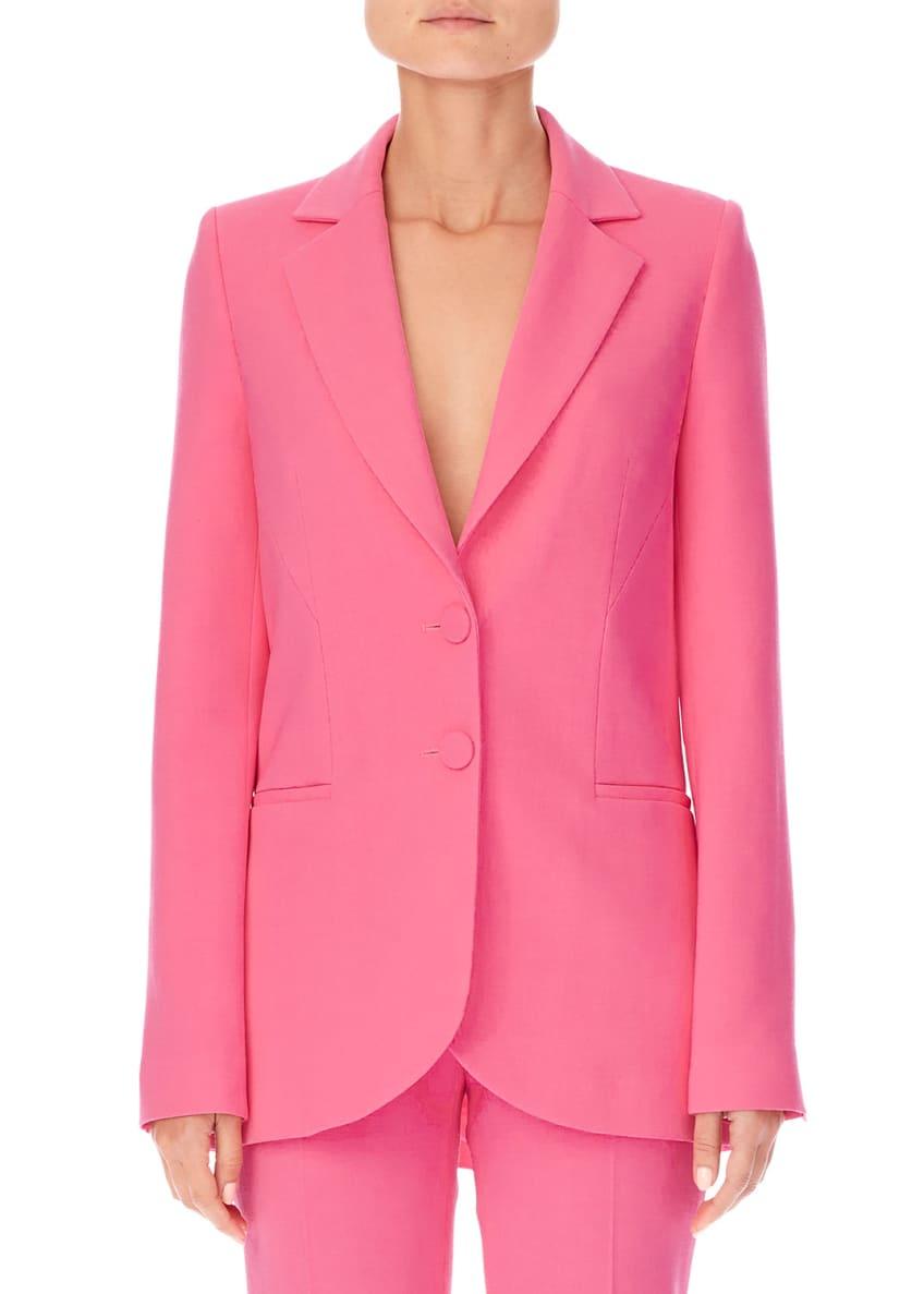 Carolina Herrera Notched-Lapels Two-Button Stretch-Wool Jacket &