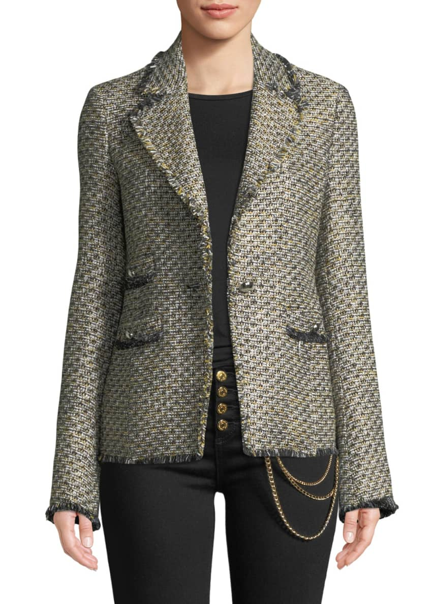 Veronica Beard Fabian Tweed Single-Button Jacket & Matching