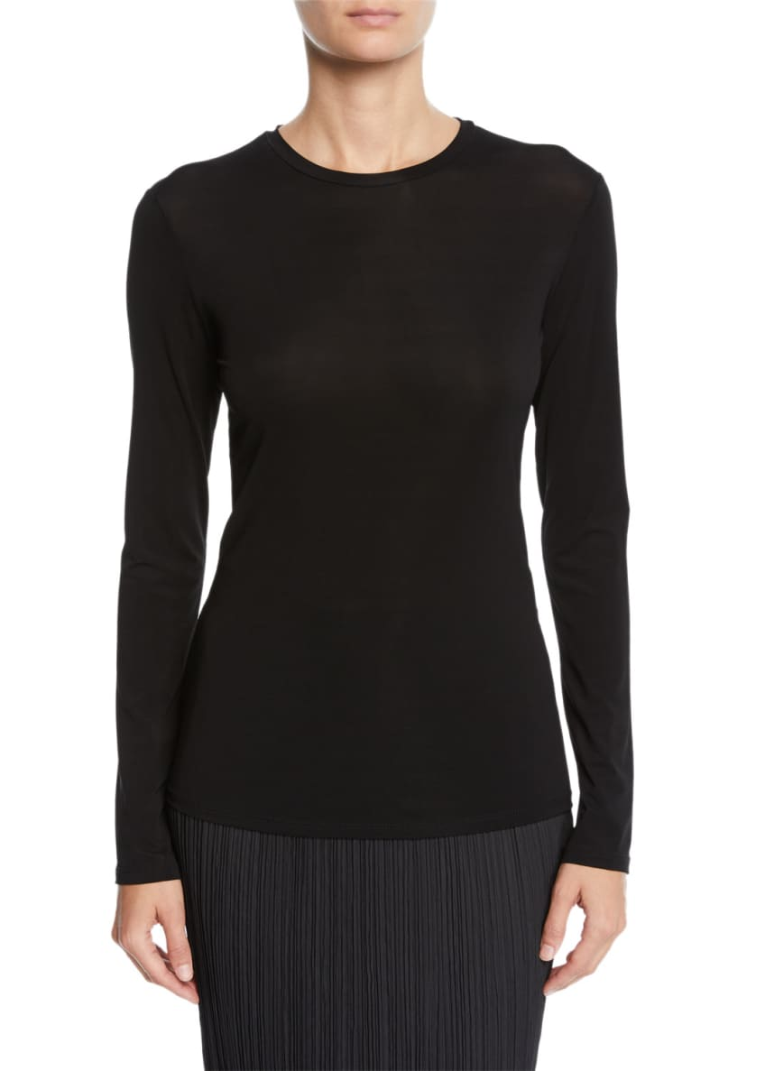 Maxmara Long-Sleeve Fitted Jersey Tee & Matching Items