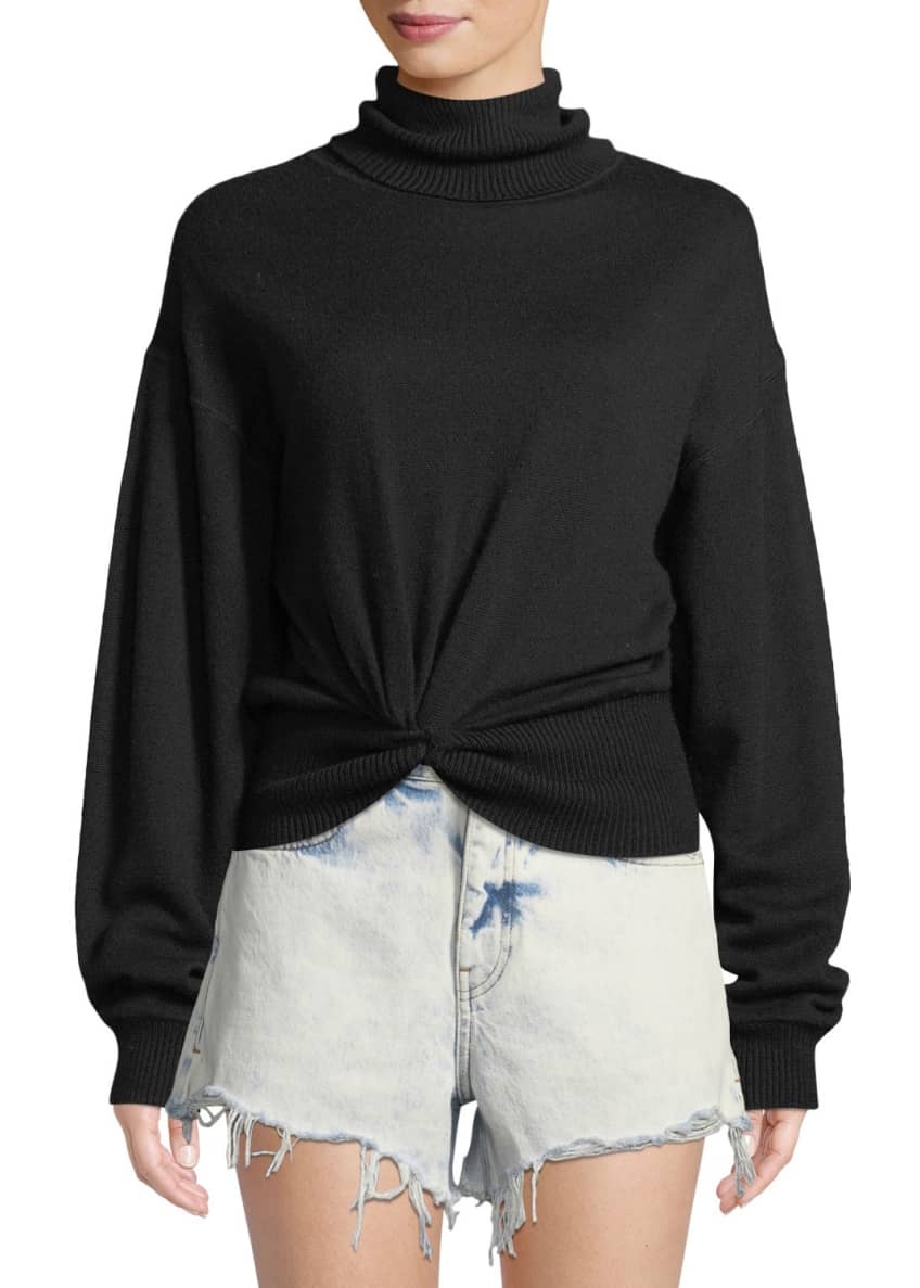 alexanderwang.t Double Layered Knotted Turtleneck Sweater &