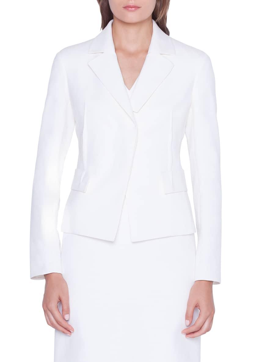 Akris Alessia Cotton-Silk Blazer Jacket & Matching Items