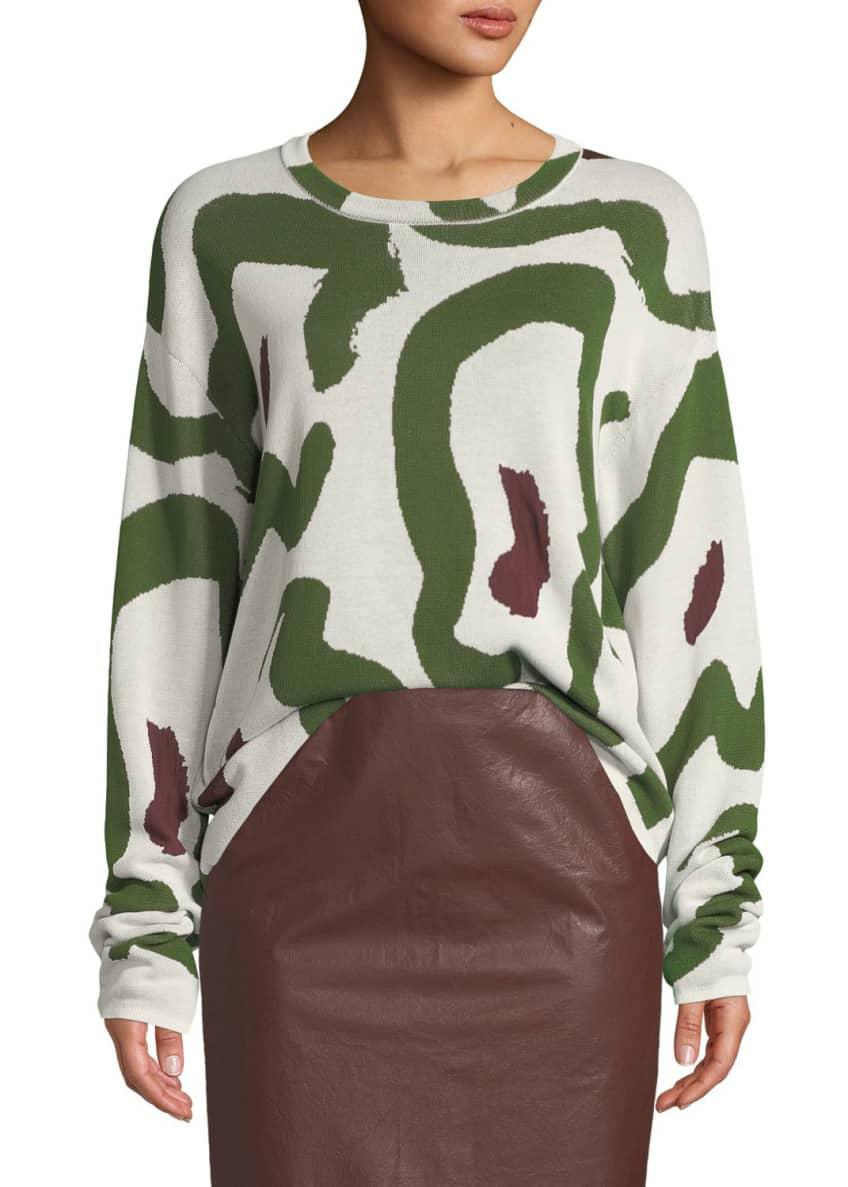 Christian Wijnants Kaori Jacquard Pullover Sweater & Matching