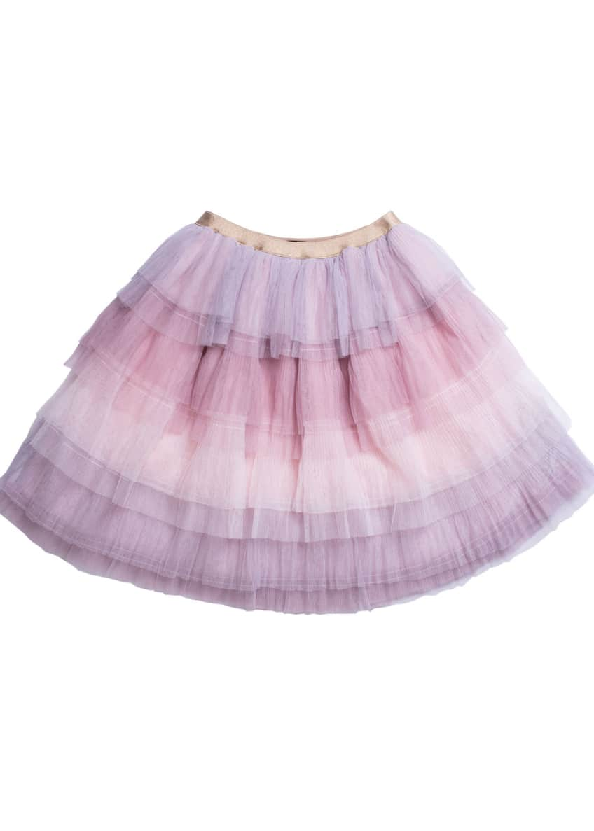 Imoga Tiered Ombre Mesh Skirt, Size 4-6 &