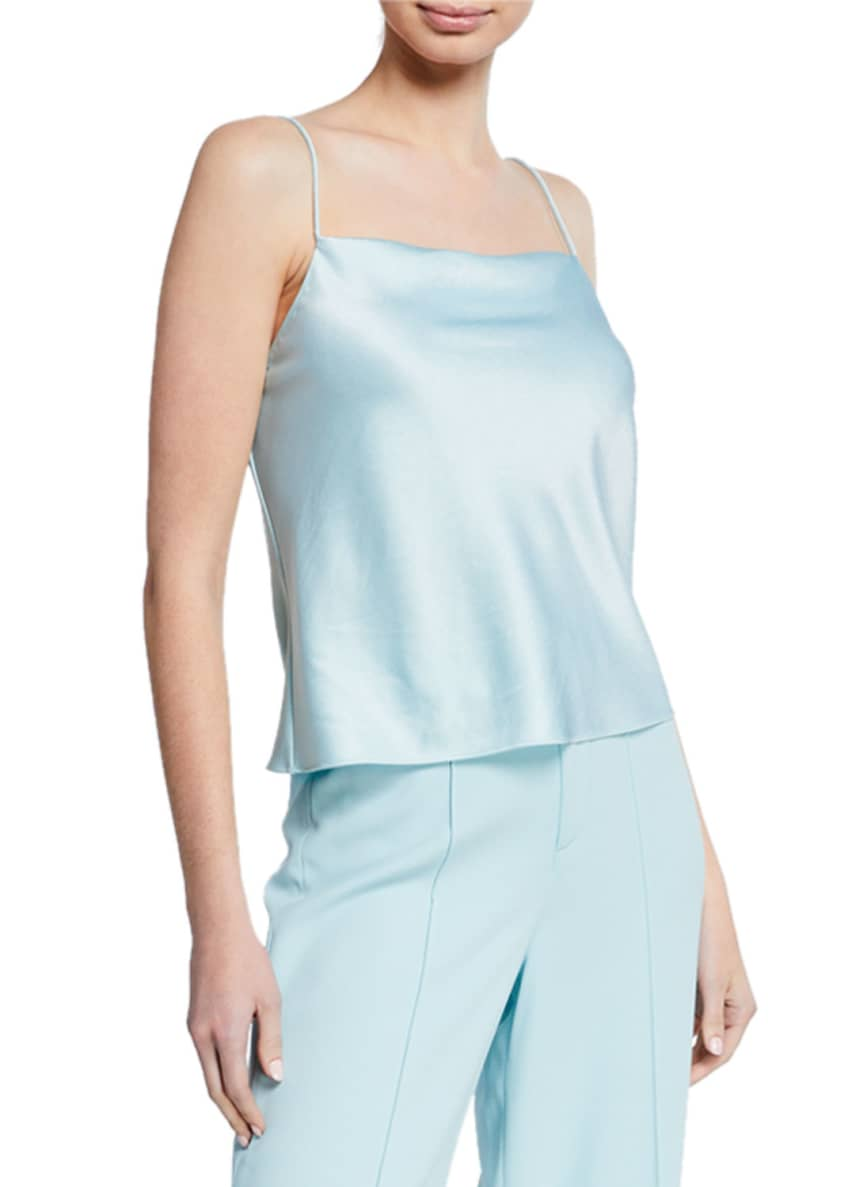 Alice + Olivia Harmon Draped Slip Tank Top