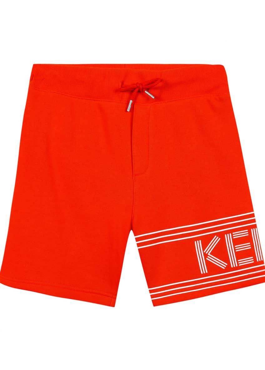 Kenzo Fleece Logo Bermuda Shorts, Size 5-6 &