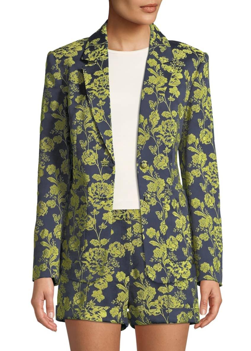 cinq a sept Janae Structured Floral Jacket &