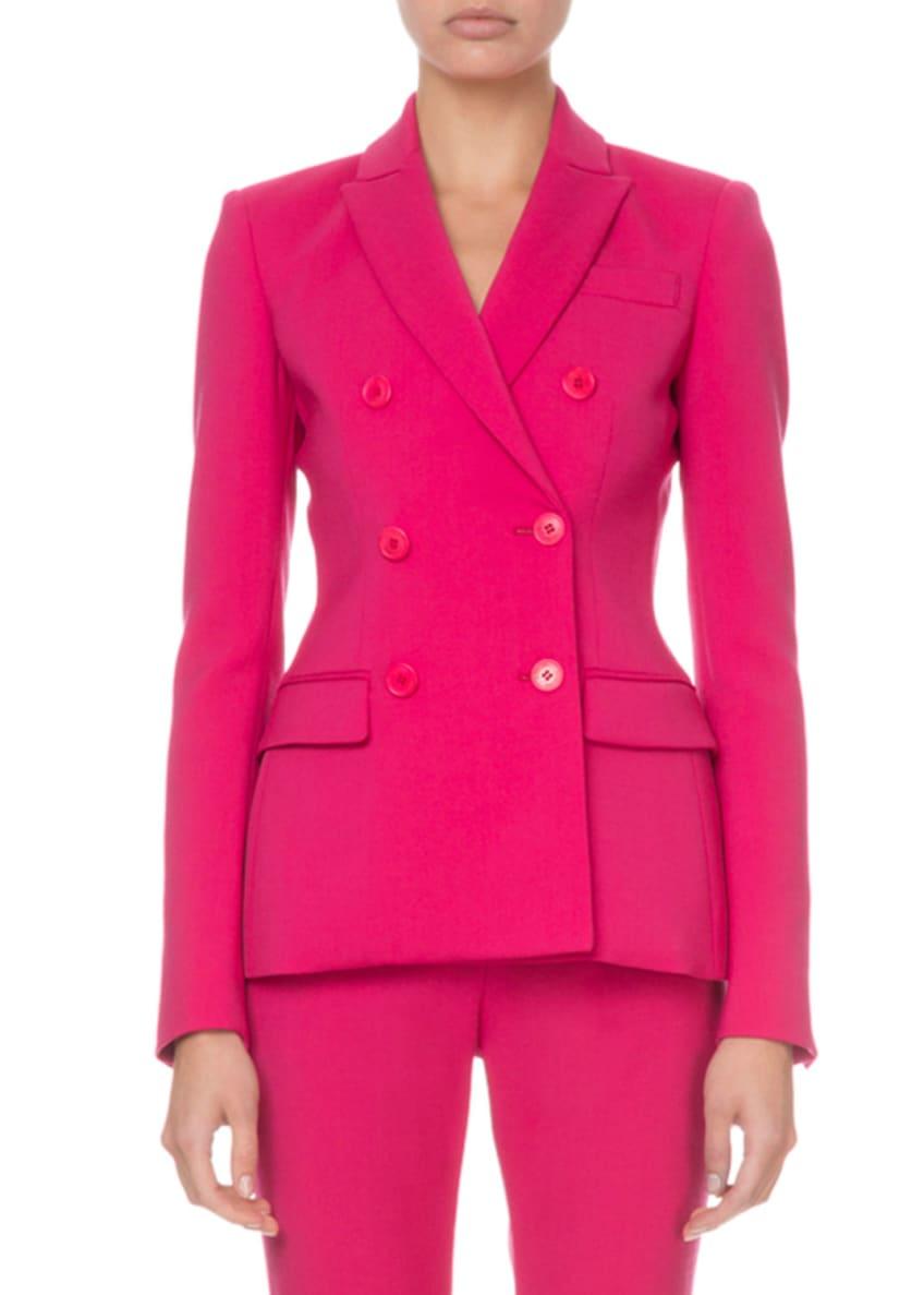 Altuzarra Double-Breasted Stretch-Wool Blazer, Pink & Matching