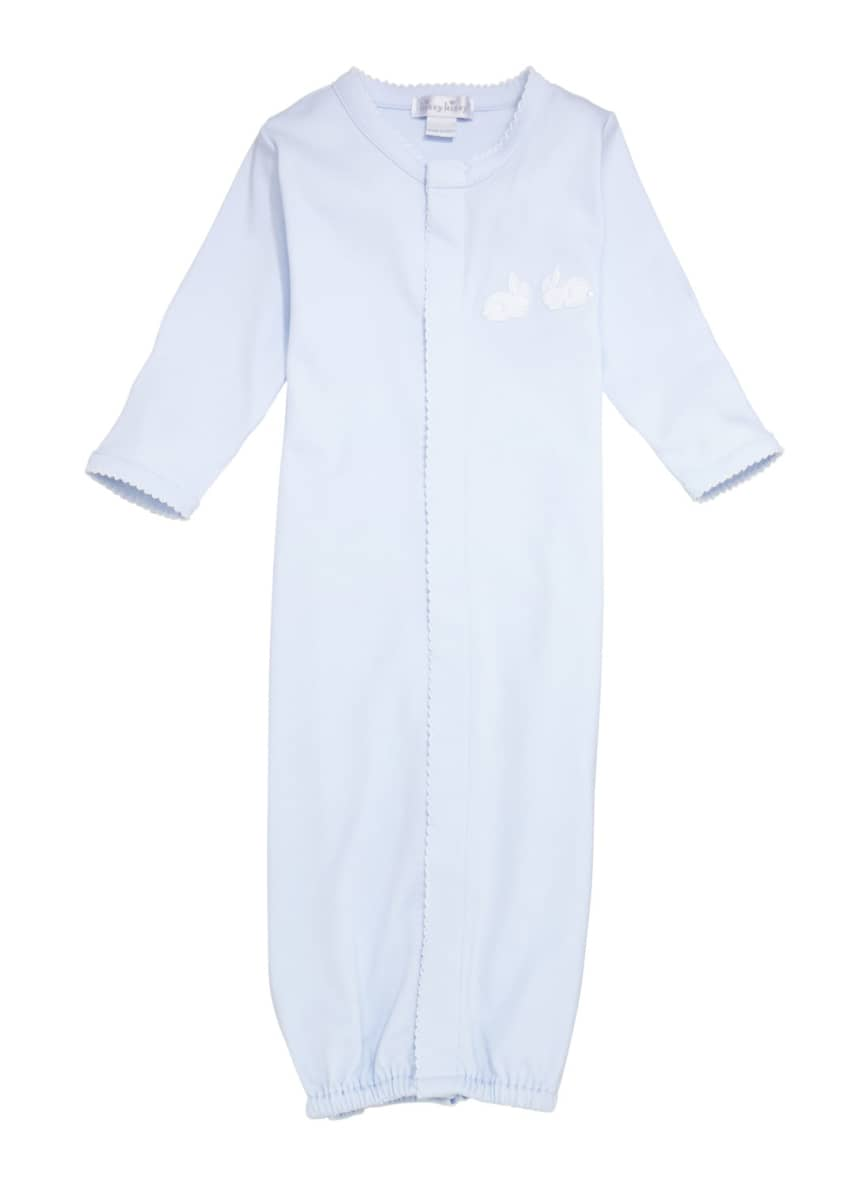 Kissy Kissy Bunny Hop Pique Convertible Gown, Size