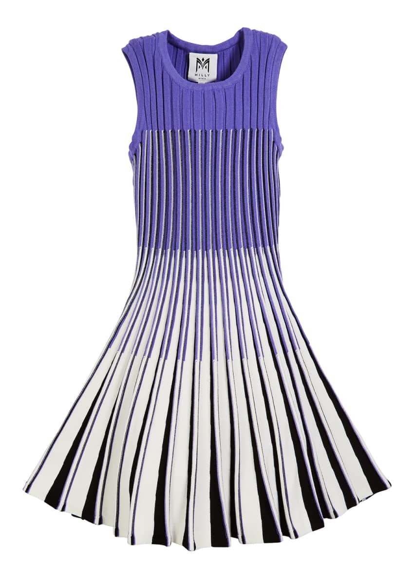 Milly Minis Ombre Flare Knit Dress, Size 2T-6