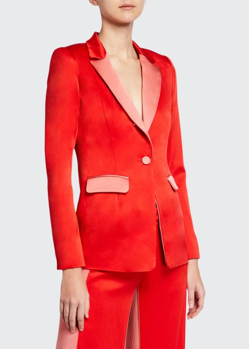 Alexis Nevra Satin Single-Button Blazer & Matching Items