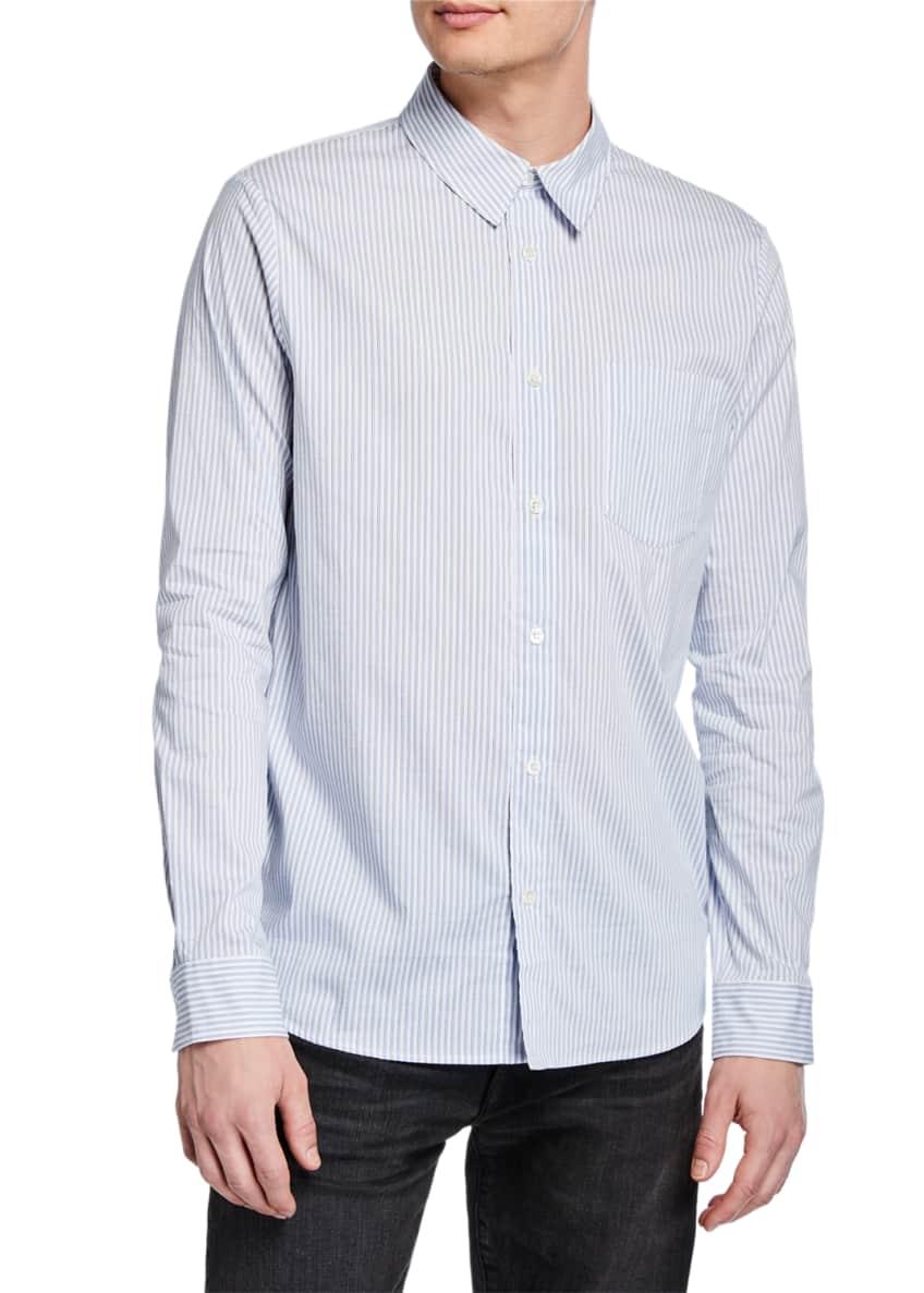 A.P.C. Men's Long-Sleeve Stripe Woven Sport Shirt &
