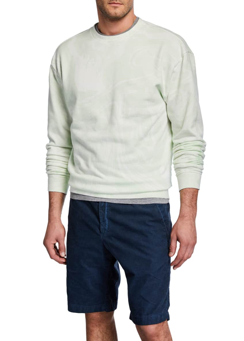 John Elliott Men's Marble-Wash Crewneck Sweatshirt & Matching