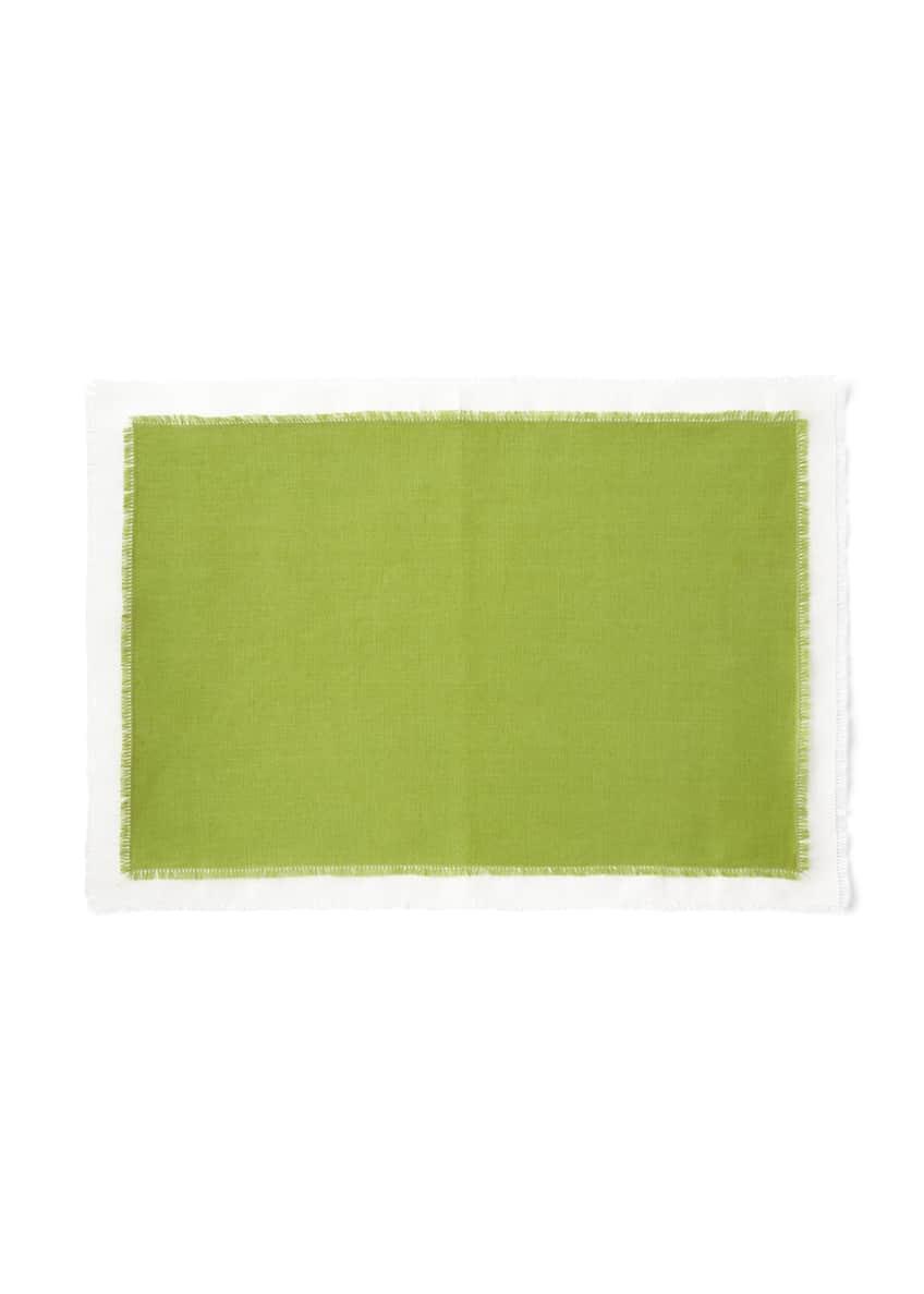 SFERRA Farrell Colorblock Linen Placemats, Set of 4